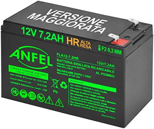 Batteria Ricaricabile 12 Volt 7,2 ah HR Alta RESA da Cambio per USV APC Back-ups ES 700 ES 550 ups 750 APC RBC2 USV APC ups 650 Compatibile FG20722