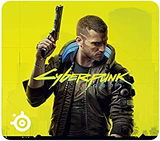 SteelSeries QcK Large Cyberpunk 2077 - Gaming Mouse Pad - 450 mm x 400 mm x 2 mm - Fabric - Rubber Base - Cyberpunk 2077 E...