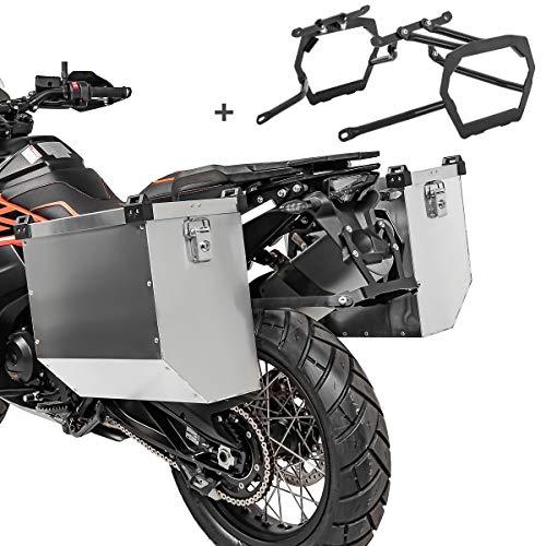 Maletas Laterales Aluminio Compatible para BMW R 1200 GS 04-12 Atlas 2x34l + Soporte
