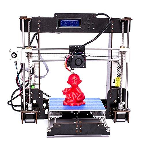 Stampante 3D DIY W5 con Ultrabase piatto caldo di grandi Dimensioni220 x 220 x 240mm equipaggiata fatta per filamenti da 1,75mm ABS, TPU, PLA, HIPS