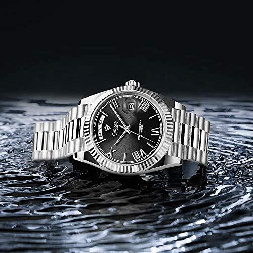 Reloj mecánico CADISEN para Hombre, Reloj automático de Zafiro automático a la Moda,...