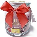 Vela perfumada decorativa en tarro de cristal pequeño para el hogar, aroma a peonía rosa dulce de larga duración, idea regalo ceremonia bombonera aromaterapia Candle Spa (rosa
