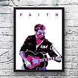 H/S Promi Freunde Geschenk George Michael Poster Musik