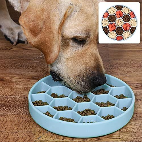 HOSPAOP Ciotola Anti Ingozzamento Grande, Ciotole Anti Ingozzamento per Cani Antiscivolo, Non Tossico Prevenire Soffocamento Rallentare Alimenti Ciotola, Mangiatoia per Una Lenta