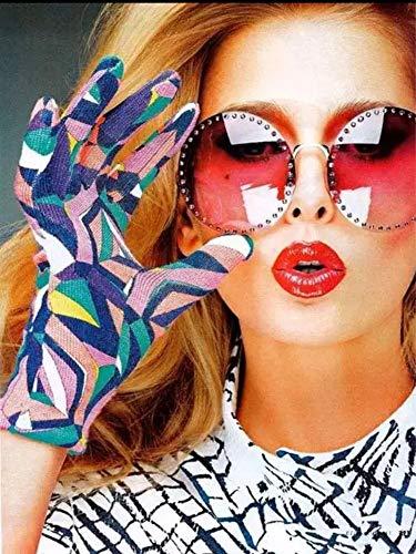 BJWQTY Gafas de Sol Belleza Figura Digital Pintura Mural Cuadro Pintado a Mano Lienzo decoración del hogar Regalo