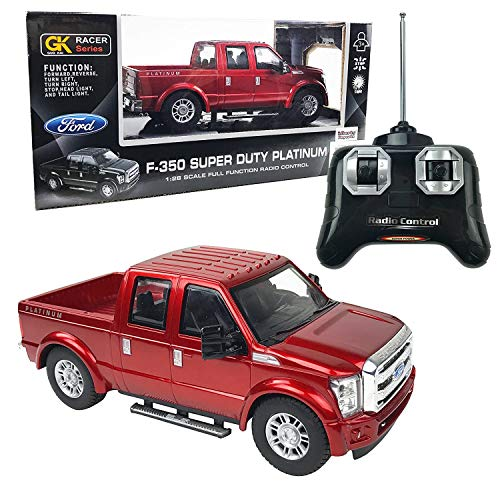Liberty Imports RC Ford F-350 Super Duty Pick Up Truck, Full Function RC Radio Remote Control Car 1:28 Scale