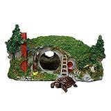 Resina De La Forma Dwarf House Acuario De Alimentación De La Caja De Pecera Adorno De La Tortuga De Ocultación Box Durable (Color : L.)