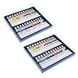 HomeDecTime 2 paquetes de pintura acrílica para niños, 24 colores