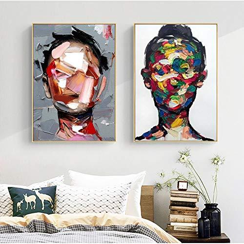 Abstrakte Kunstdruck Storch hell Porträt Gesicht Leinwand Bild Wandmalerei Schlafzimmer Moderne Wohnkultur Dekoration rahmenlose Malerei 40x60cm