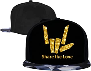 Top Level Share The Love_Stephen Baseball Hat Unisex Sports Adjustable Plain Cap Hip-Hop Hat for Kids/Men/Women