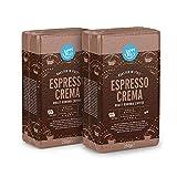 Marca Amazon - Happy Belly Café molido 'Espresso Crema' (2 x 250g)