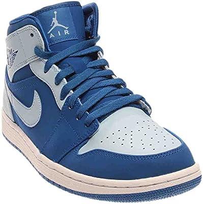 Jordan Mens AIR 1 MID Shoes Team Royal ICE Blue White Size 8.5