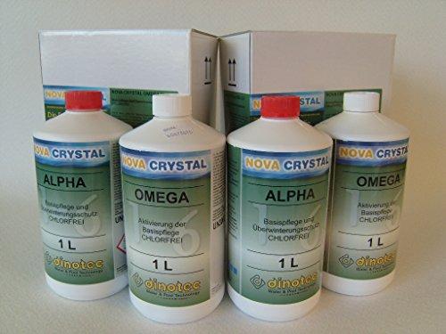 dinotec 2er Set Nova Crystal chlorfreie Wasserpflege Promotion-Set 2 x 1 l (Preis je l / 34,75 EUR)