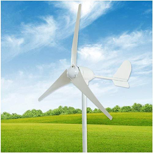 AZUOYI 600W 12V/24V/48V Generador De Turbina Eólica Aerogenerador De 3 Palas Generador De Turbina De Viento De Controlador De Carga Wind Turbine Generator,500W 24V