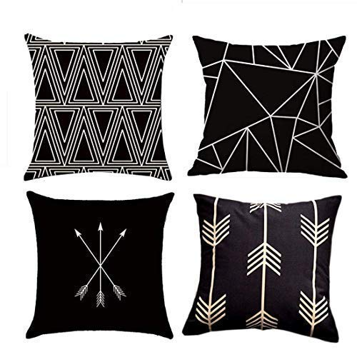 MOCOFO Funda de Almohada Decorativa de 4 Piezas de algodón geométrico Tejido...
