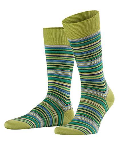 FALKE Herren Socken Microblock, 91% Baumwolle, 1 Paar, Grün (Lime 7126), Größe: 45-46