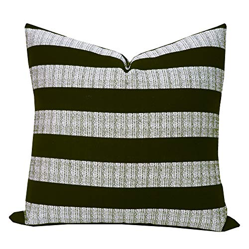 SLOW COW Decorative Throw Pillow Cover Modern Farmhouse Stripe Cushion Cover for Couch Sofa Bed Decoration 18 x 18 inches Black