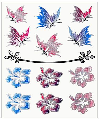 Quattroerre 8111 stickers bloemen en vlinders