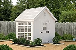 Little Cottage Company 8' x 8' Colonial Gable Greenhouse - Best She Shed Kits