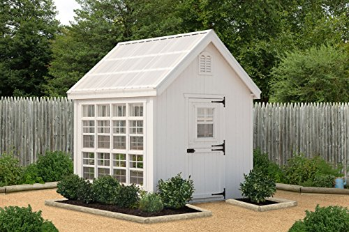 Little Cottage Company Colonial Gable Greenhouse, 8' x 8', Primed Tan