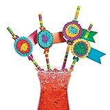 Fun Express Fiesta Party Paper Straws - 48 pieces