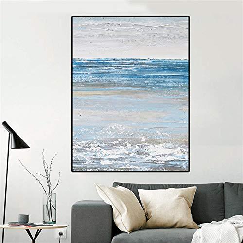 Abstract schilderij wit en blauw op canvas schilderij modulaire print darts voor woonkamer decoratie cuadros 40X50CM Q