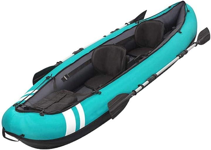 Kayak 2 persone gonfiabile - barca da pesca kayak barca in alluminio di alluminio con pompa d`aria keduoduo 350-544-355