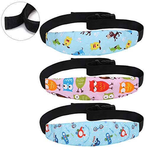 URAQT 3 Pcs Kindersitz Kopfband, Autositz Kopfband - Komfortable Safe Sleep Lösung, Verstellbarer Kopfstützgurt für Autositz, Kindersitze