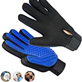 Pet Grooming Glove, Upgrade Premium Version Pet Hair Remover Glove, Enhanced Five Finger Design and The Softness of The Brush Head, Perfect for Dogs & Cats with Long & Short Fur - 1 Pair