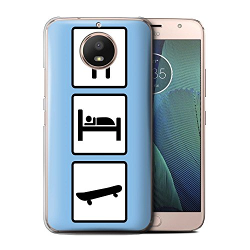 Stuff4®®®®®®®®®®®®®®®®®®®®®®®®®®®® Phone Case/Cover/Skin/Moto-CC/Eat/Sleep Collection Motorola Moto E4 Plus 2017 Skate/skateboard/blauw.