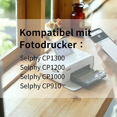 Fimax Compatible KP-108IN Papel Fotográfico 100 x 148mm (4 x 6 Inch) 3115B001 (AA) para Impresoras Canon Selphy CP1300 CP1200 CP910, 108 Hojas de Papel Fotográfic y 3 Cartuchos de Tinta