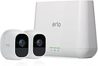 Arlo Pro 2 Home Security Camera System (2 pack) with Siren, Wireless, Rechargeable, 1080p HD, Audio, Indoor or Outdoor, Ni...