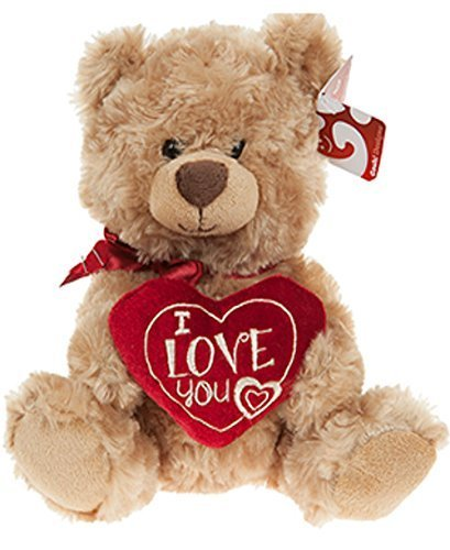 """10"""" Soft Plush Teddy Bear Holding I Love You Heart Valentines Day Gift"""
