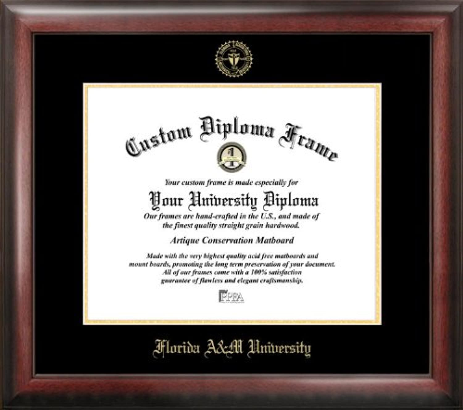 Campus Images Florida A&M University Embossed Diploma Frame, 8.5  x 11 , gold