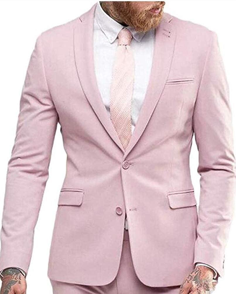 Botong Men's 2 Pc Shawl Wedding Suits Groom Tuxedos