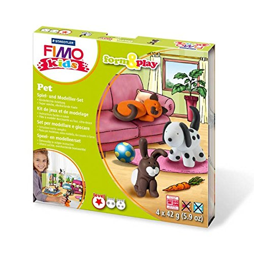 Fimo Kids Form and Play Set - Tiere Knete, Knetmasse, Modelliermasse