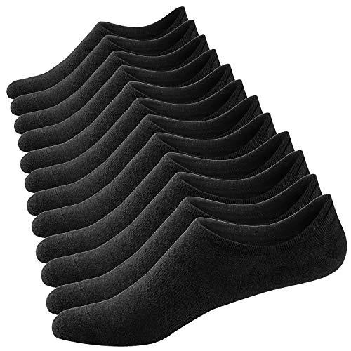 Ueither 3 o 6 Pares Calcetines Invisibles Mujer De Algodón Calcetines Cortos Elástco Con Silicona Antideslizante (36-43, Color 4)