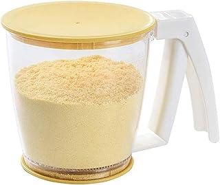 colore: bianco e giallo con coperchio Eforcase in polipropilene in polvere Setaccio per farina