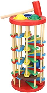 HHSDJ Colorful wooden ball ladder toy with hammer intelligence development educational toys for children preschool gift co...