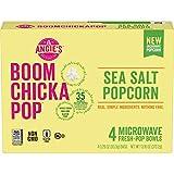 Angie's BOOMCHICKAPOP Sea Salt Microwave Popcorn Fresh-Pop Bowls, 13.16 Ounce, Pack of 6
