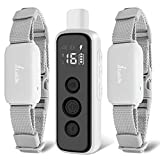 Lu&Ba Dog Shock Collar with Remote,2 Dogs Training Collar 3 Training Modes Rechargeable Dog Collar with Beep Vibration and Shock Ipx7 Waterproof Collar for Dogs Suitable for Small Medium Large Dog