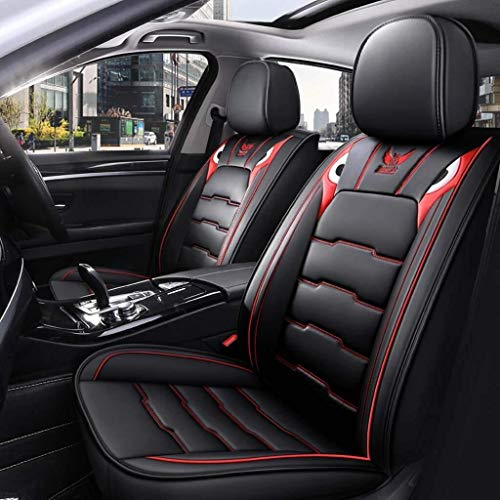 Housses de siège de voiture Ensemble, housses en cuir Siège universel sièges avant et les sièges arrière de voitures Ensemble complet for l'intérieur des accessoires de voiture (Color : Rouge)