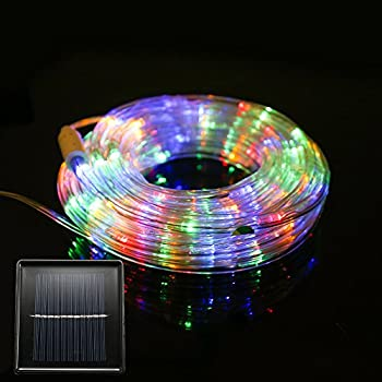 FUNIAO 33-Feet 240-LED Waterproof Solar Rope Lights
