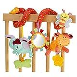 Isuper Espiral actividades juguetes del cochecito y cama,Colgando Cuna Sonajero,Baby Spiral cama cochecito beb Cuna de juguete (Conejo Abejas)