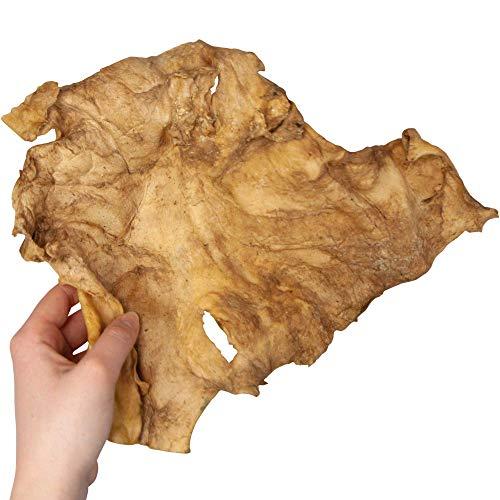 Schecker Büffelkopfhaut Platten XL - für mittelgroße bis sehr große Hunde