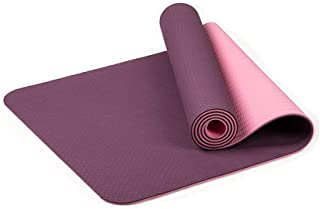IZHH Yoga Mat - Classic 1/4 inch Pro Yoga Mat Eco Friendly Non Slip Fitness Exercise Mat with Carrying Strap-Workout Mat for Yoga, Pilates and Floor Exercises (C)