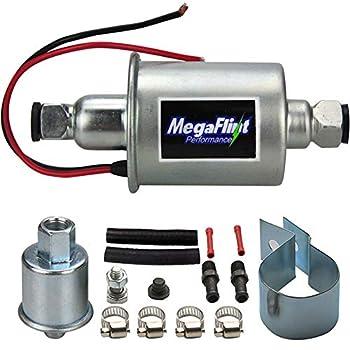 Megaflint Inline Fuel Pump 12V Universal Electric Fuel Pump Low Pressure 5-9 PSI For Gas Diesel E8012S HEP-02A