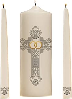 God Bless Our Union Wedding Unity Candles Set of 3