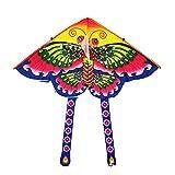 DANDANdianzi 90x90cm Deportes al Aire Libre, Animal, Volar Cometa niños de los niños del Juguete del Juego de Colores de Dibujos Animados Vuelo de la Cometa patrón Aleatorio