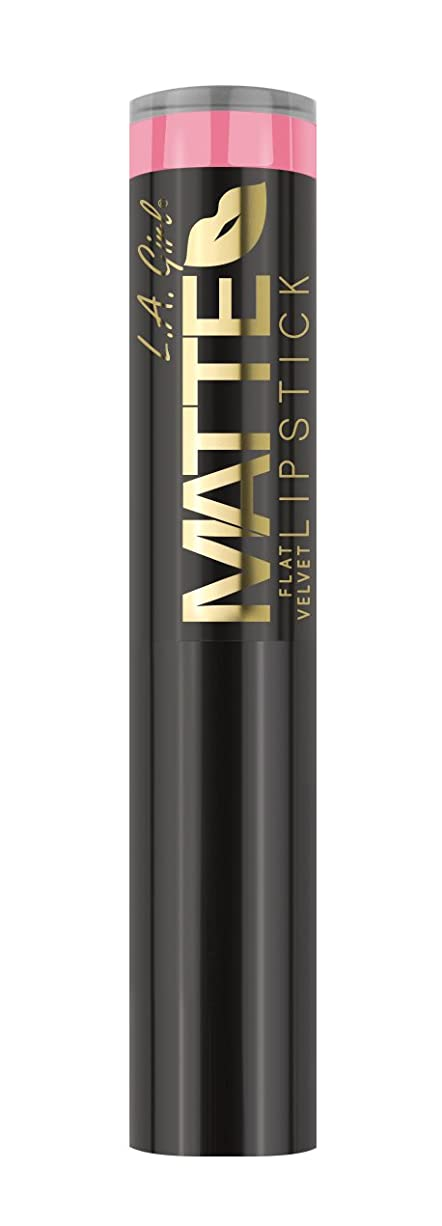 魅惑的な尽きる抑止するL.A. GIRL Matte Flat Velvet Lipstick Sweet Revenge (並行輸入品)
